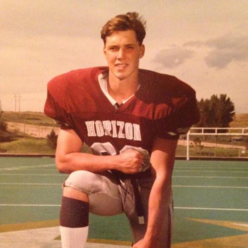 Kevin in his high school football days.